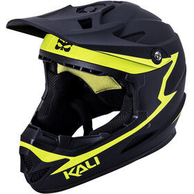 Kali Zoka Casque Homme, matte black/neon yellow